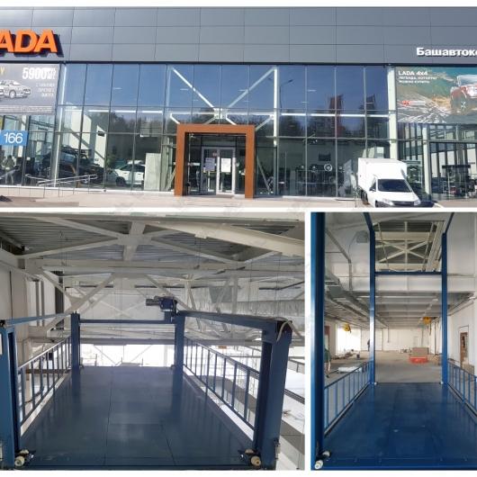 Автомобильный лифт VAL-4C в дилерском центре Башавтоком в Уфе фото